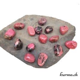 Rhodonite de Tanzanie – Pierre roulée 2cm à 3cm – N°7381.1