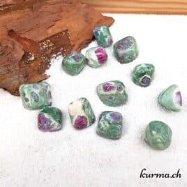 Rubis-Fuchsite  – Pierre roulée 2cm à 2.5cm – N°5971.1