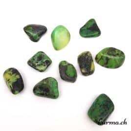 """Serpentine """"Pomme Verte"""" – Pierre roulée 3cm à 3.5cm – N°6959.1"""