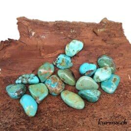 Turquoise Stabilisée – Pierre roulée 2cm à 3cm – N°5144.1