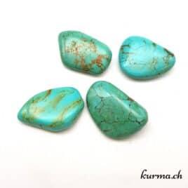Turquoise d'Arizona – Pierre roulée 3.5cm à 4.5cm – N°8658.1