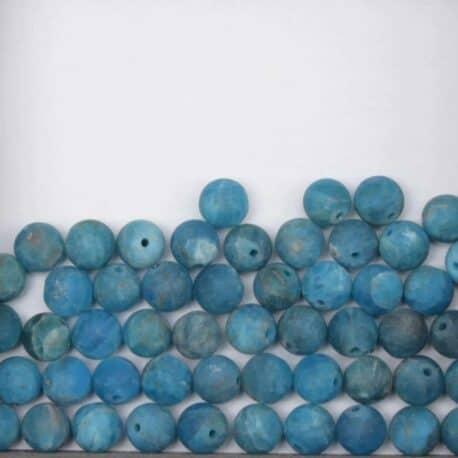 Apatie bleu perles ronde 8mm