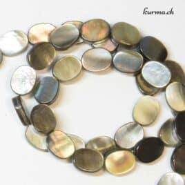 Coquille de perles noire Ovale – Perles 8x10mm – N°5648