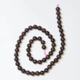 Perles Grenat 6mm
