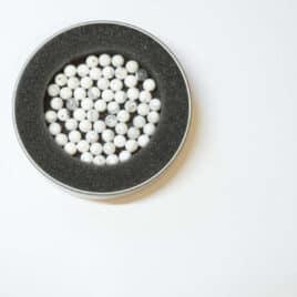 "Magnésite ""Howlite"" – Perles 8-8.5mm – 45 pcs – N°5593"