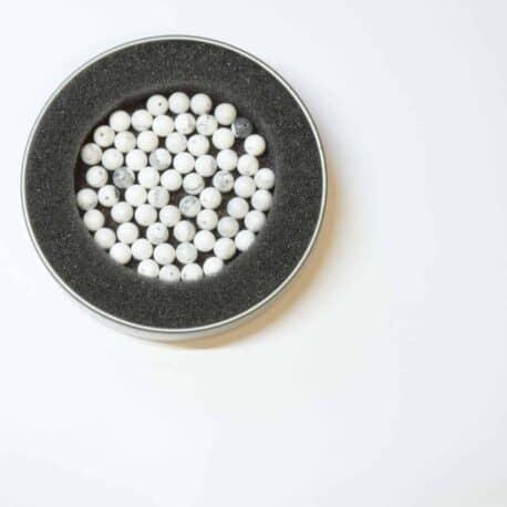 Perles howlite ronde 8mm