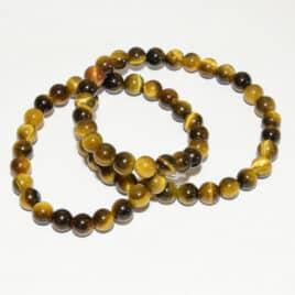 Perles Oeil-de-tigre naturel 6mm