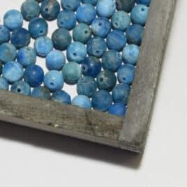 Perles Apatite bleue mate 6mm