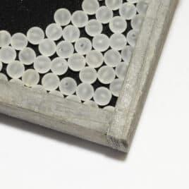 Perles Cristal de roche mat 6mm
