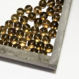 Quartz fumé – Perles 8-8.5mm – N°8818