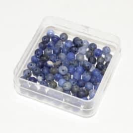 Perles sodalite mate 4mm