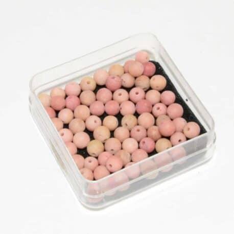 Perles Rhodonite mate 4mm