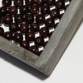 Grenat – Perles 8.5mm – 45 pcs – N°8131
