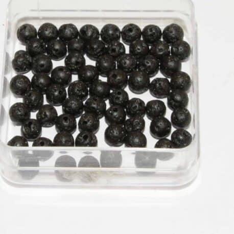 Perles Lave cirée 4mm