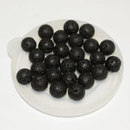 perles Lave cirée 10mm