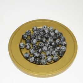 Obsidienne flocon de neige Mate – Perles 8-8.5mm – 48pcs – N°7660