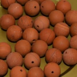 perles Jaspe rouge mat 10mm