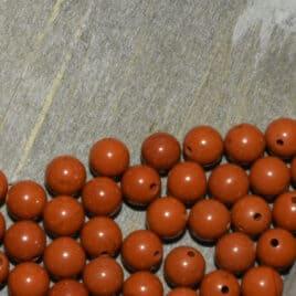 Jaspe Rouge – Perles 6.5-7mm – N°9598
