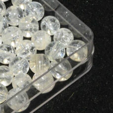 Pierre Ligne Ronde N°7680 Quartz Cristal de roche Iris 6mm (pt)