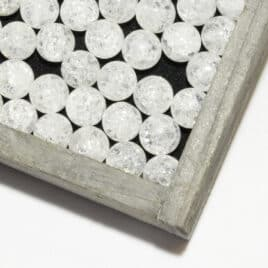 Cristal de roche Iris – Perles 10mm – N°8244
