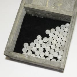 perles Cristal de roche iris mat 8mm