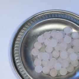 Perles Quartz rose mat 8mm