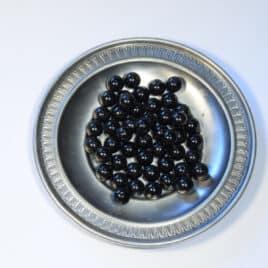 Perles Tourmaline noire10mm