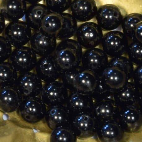 Perles de tourmaline noire 8.5mm