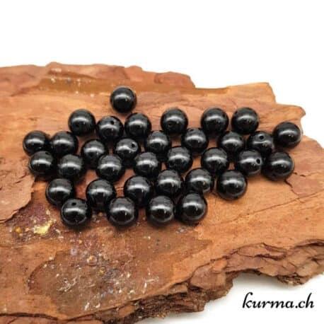 Perles tourmaline noire 8mm