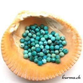 Perles turquoise naturel