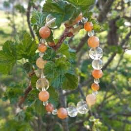 bracelet en perles cornaline et citrine