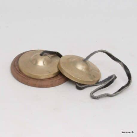 Tingsha argenté naturel de 4cm de diamètre
