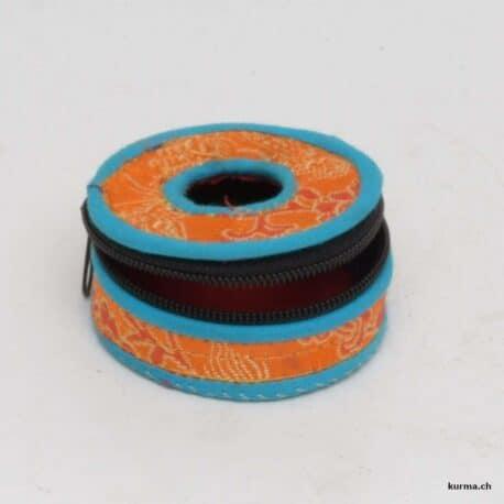 Boite de rangement tingsha orange et bleu