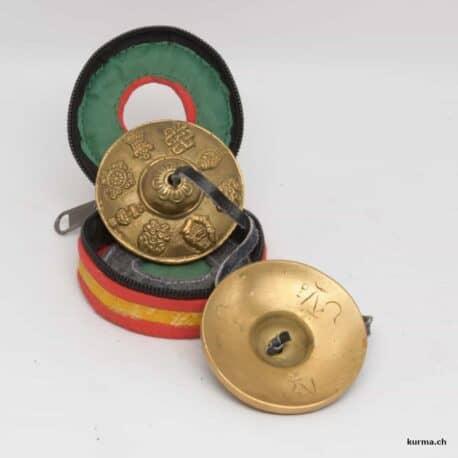 Timbale tibétaine en bronze avec une boite de rangement
