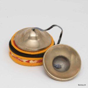 Timbale tibétaine argentée