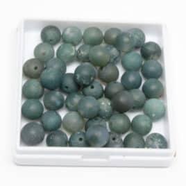 Agate Mousse mate – Perles 8-8.5mm – N°8110