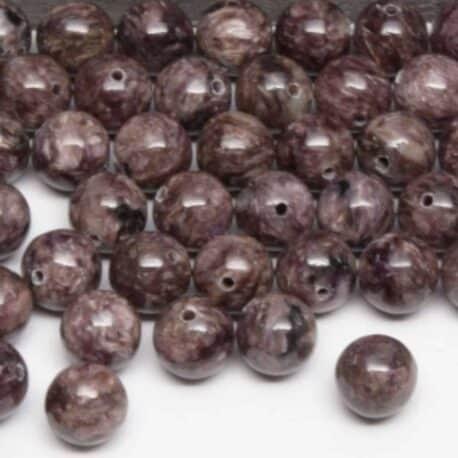 Perles de charoite 8mm