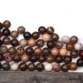 Perles bois pétrifié 6mm