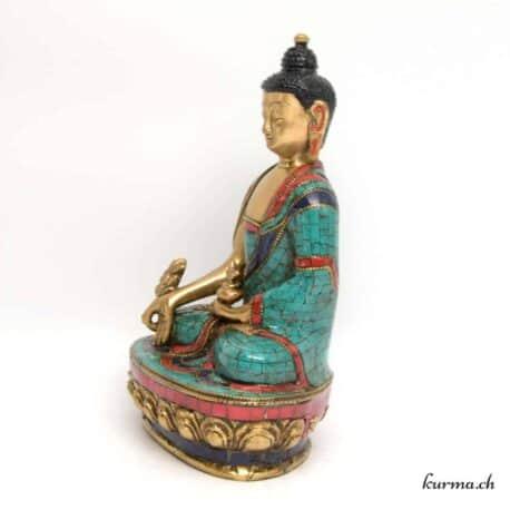 Statuette de bouddha en bronze fabriquée artisanalement au Népal