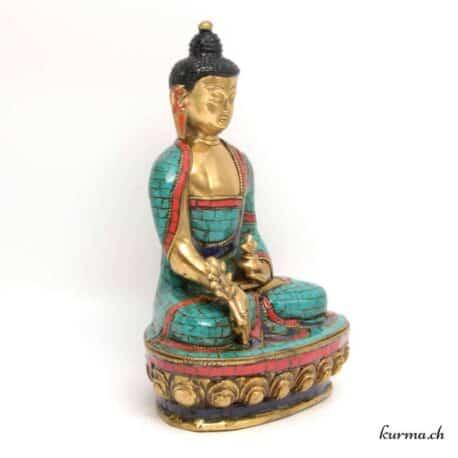 Statue de bouddha népalaise en bronze provenant du népal
