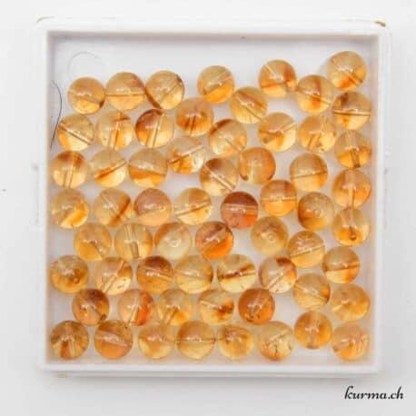 Perles citrine naturel