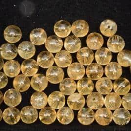 Perles en citrine 8mm