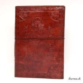 Carnet personnalisé cuir Ganesh