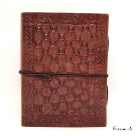 livre de voyage traditionel du Rajasthan en cuir véritable et papier naturel