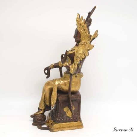 Statue tara assise sur un siège