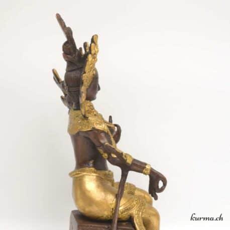 statuette de tara en bronze dorée au feu