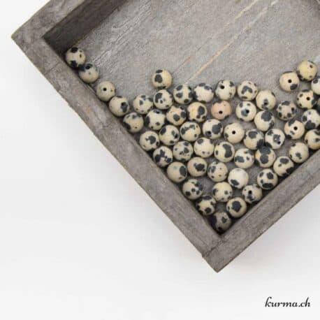 Perle de jaspe dalmatien