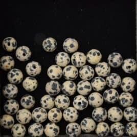 Jaspe dalmatien perles mat 8mm