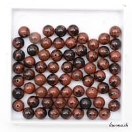Perles obsidienne Mahogany