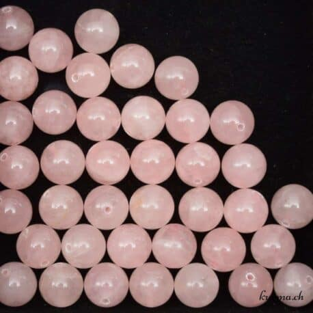 Perles quartz rose